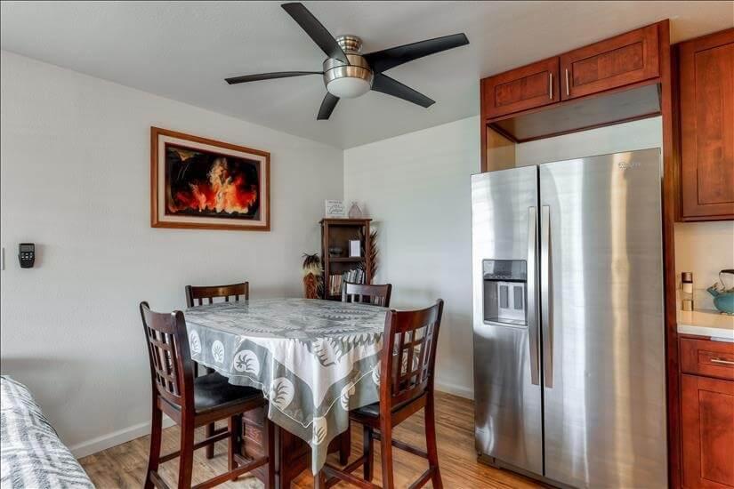 Dining Area & Refrigerator