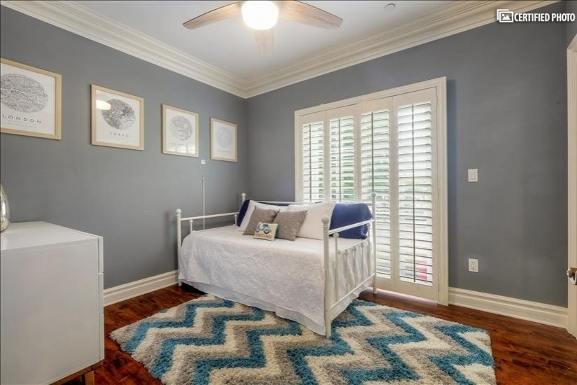 Guest Room 1 with Patio. Trundle DayBed (pushed in)