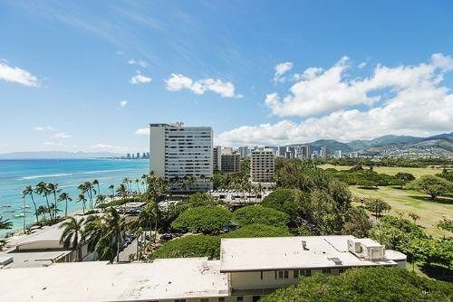 Ocean and downtown Waikiki view