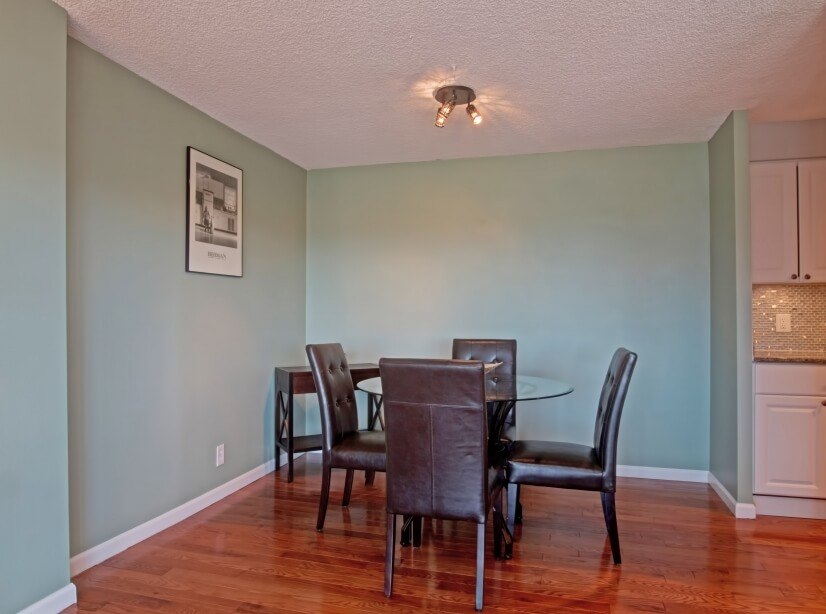 Separate dining room off kitchen