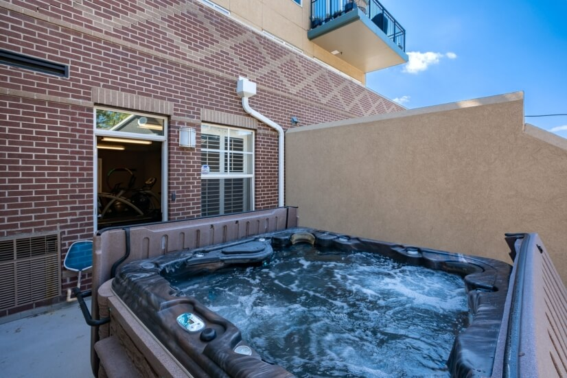 Building offers an outdoor hot tub for reside