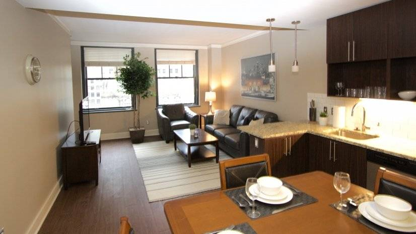 Living and Dining Area in Apartment