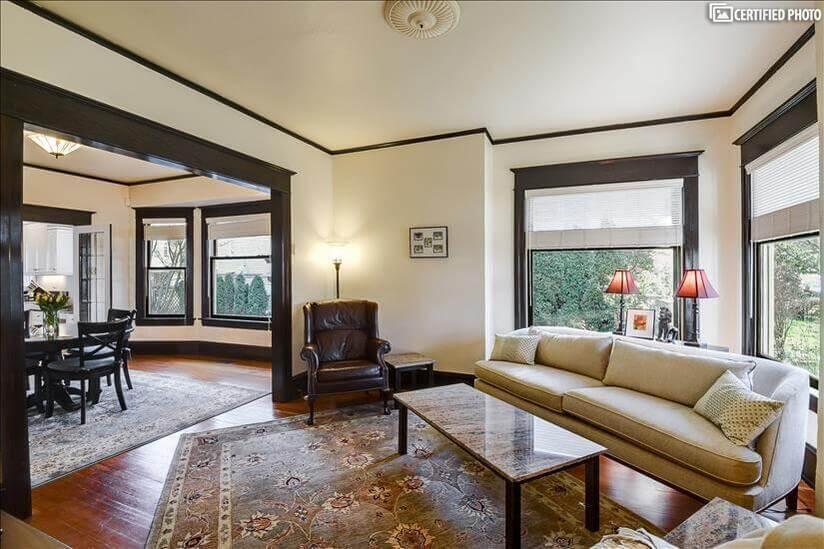 High ceilings throughout home creating spacio