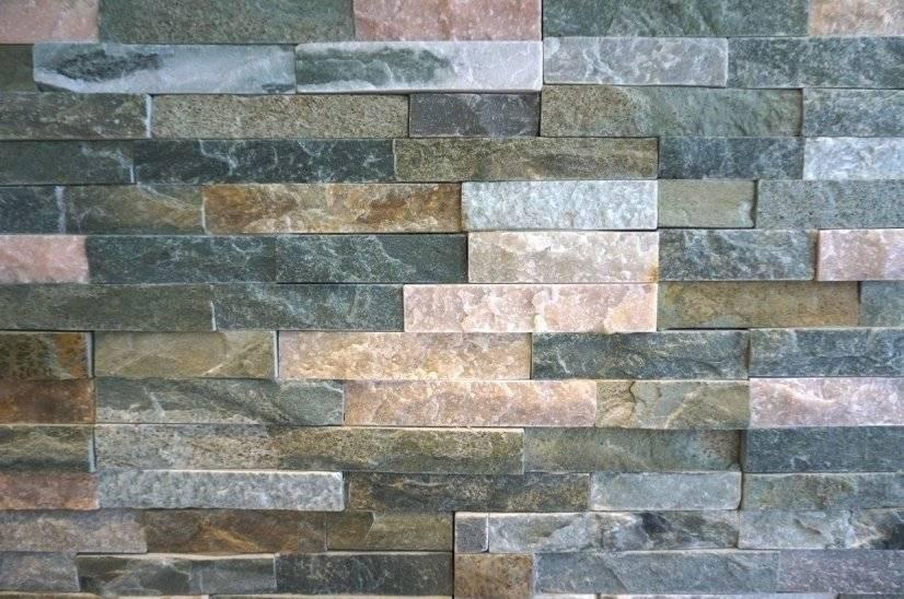 Stone Fireplace/TV Wall