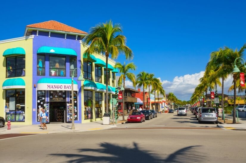 Downtown Ft. Myers Beach.