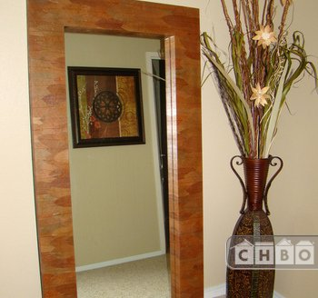 Master Bedroom with Oversized Leaner Mirror