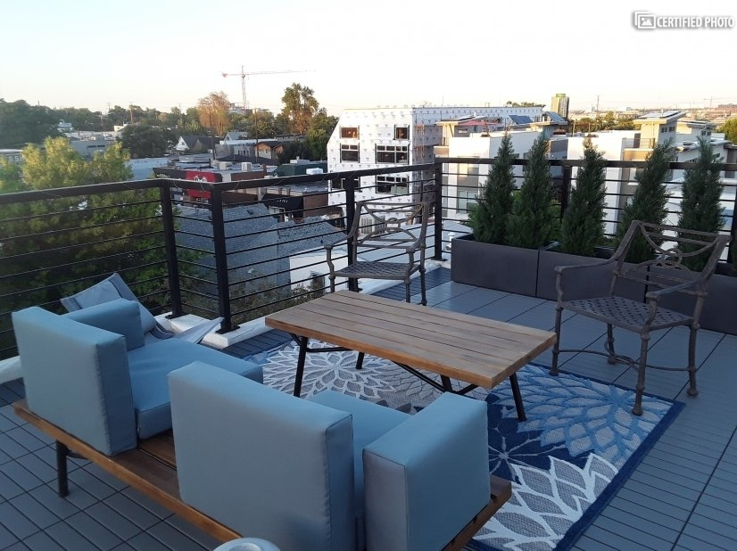 Enjoy an Evening Cocktail and Views on the 2nd Rooftop Deck