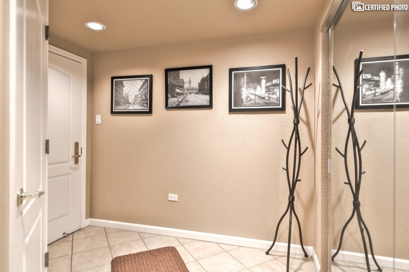entry with oversized double closet