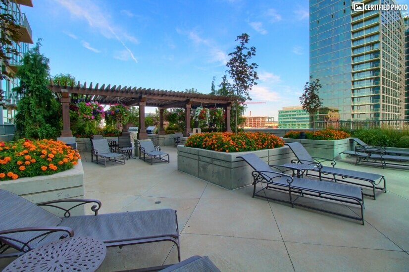 Patio overlooking downtown