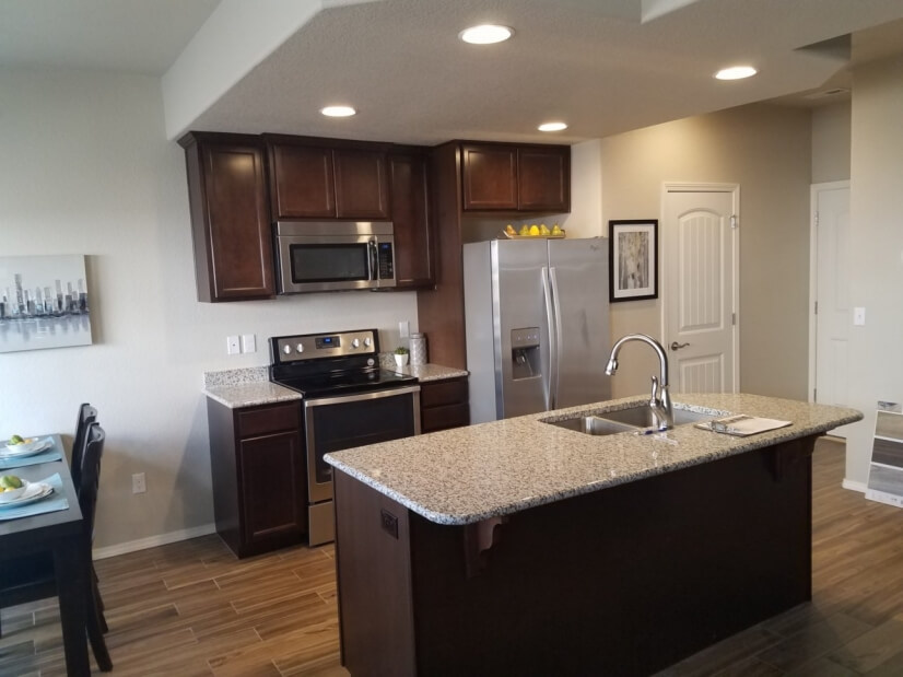 Kitchen - granite countertops, tile floor
