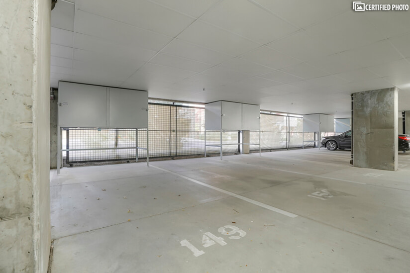 Personal, inside garage space.