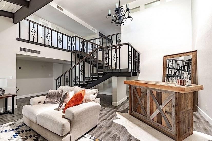 Living Room Bar Area & Loft