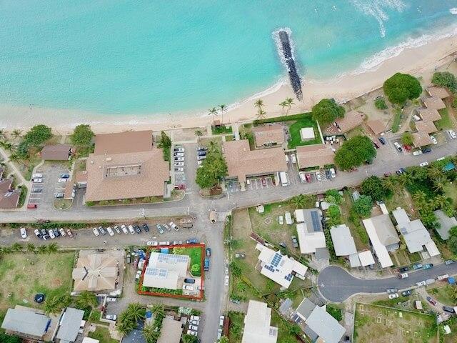 Birdseye view -note property 300 ft from beautiful beach