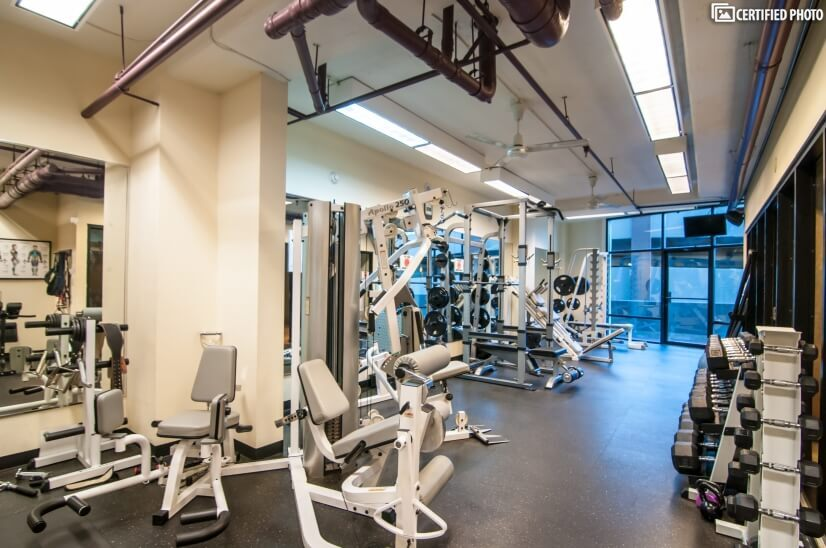 Great weight room & racquetball court