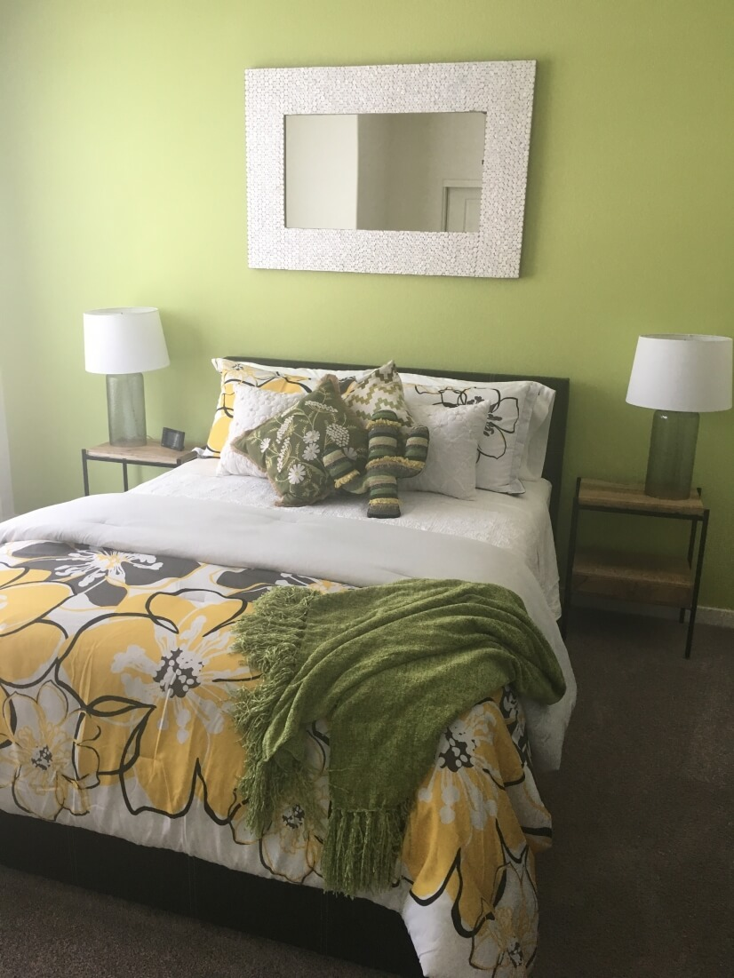 Second master suite, bright and happy.
