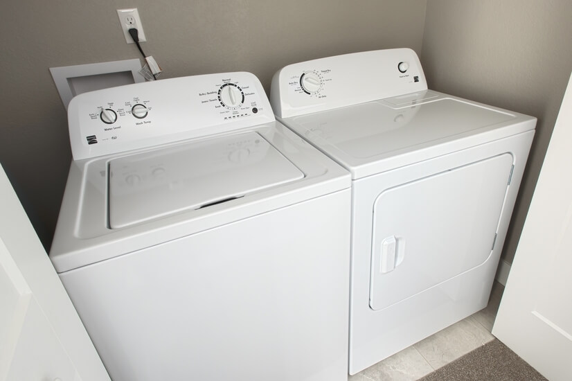 Washer and Dryer on Third Floor