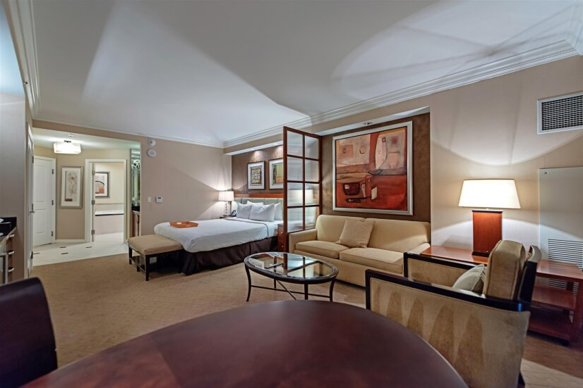 Suite interior with view facing interior of unit