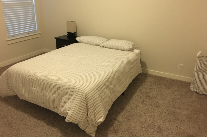Third bedroom, upstairs. Full size bed.