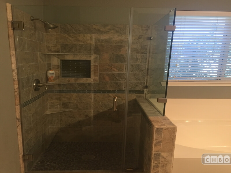 newly remodeled walk in shower