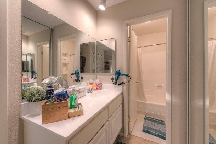 Fully stocked bathroom