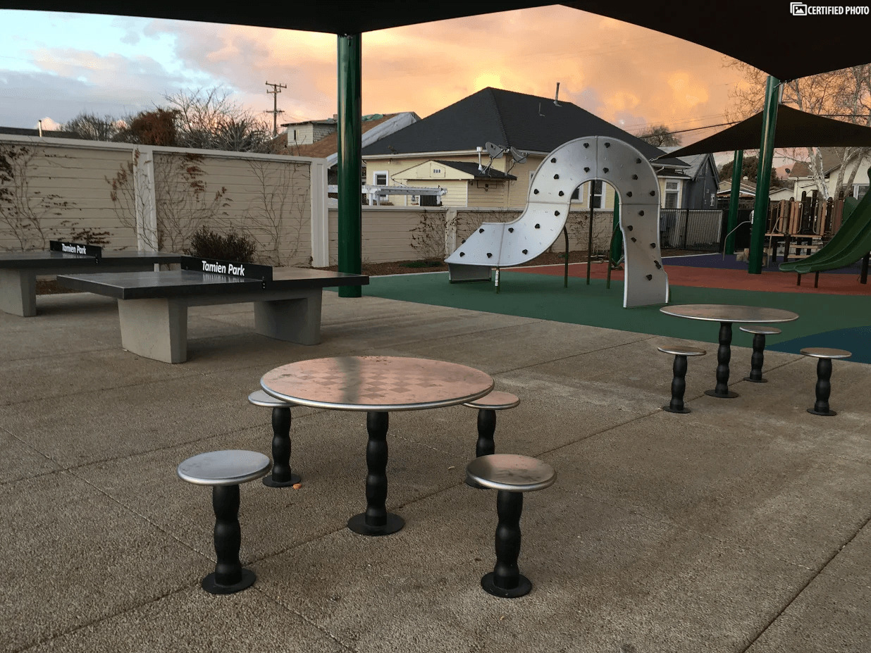 Tamien Park Outdoor Ping Pong and Picnic Tables