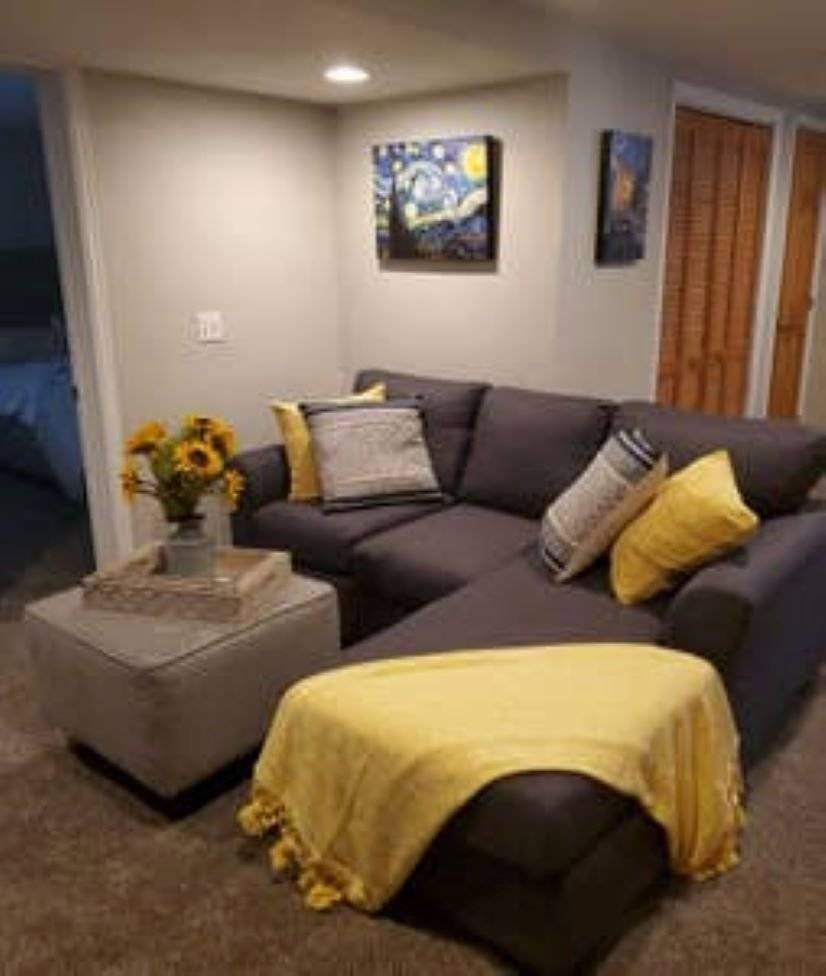 Family Room with smart tv and sound bar