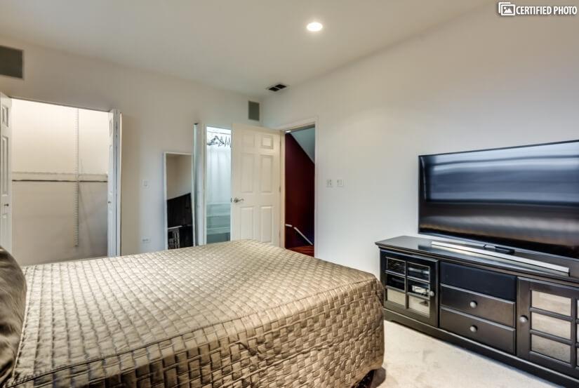 Bedroom 2 w/T.V entertainment center