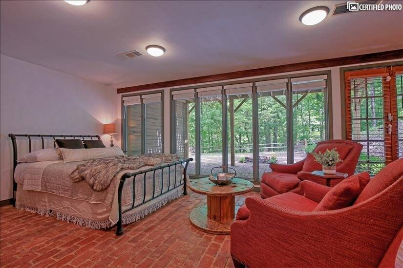 Lower Level Queen Bedroom Suite with sitting area.