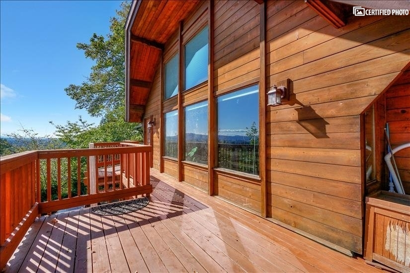 spacious front deck