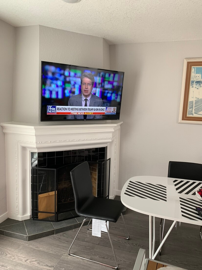 Fire place and TV