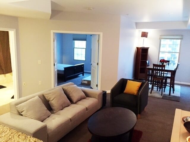 Living Room with separate dining nook