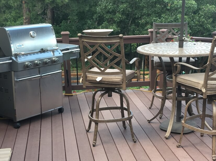 Gas Grill and Outdoor Dinning Area North Deck Main Level
