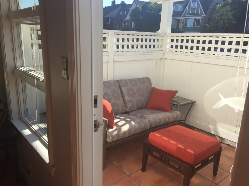 Private Patio Off of Second Bedroom/Den