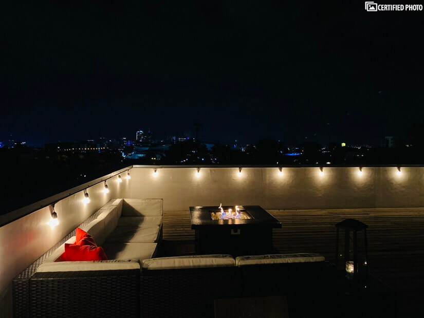 Rooftop at Night