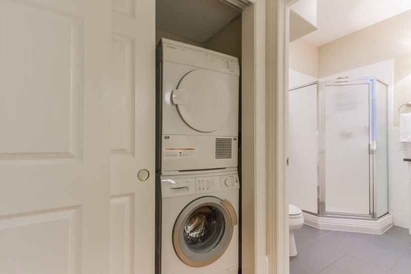 Washer/dryer in unit.