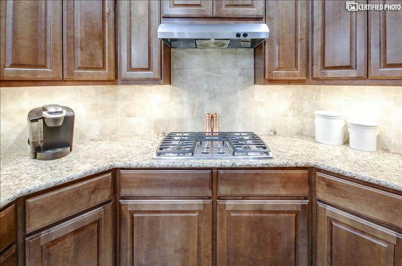 5 burner, stainless gas stove & exhaust vent
