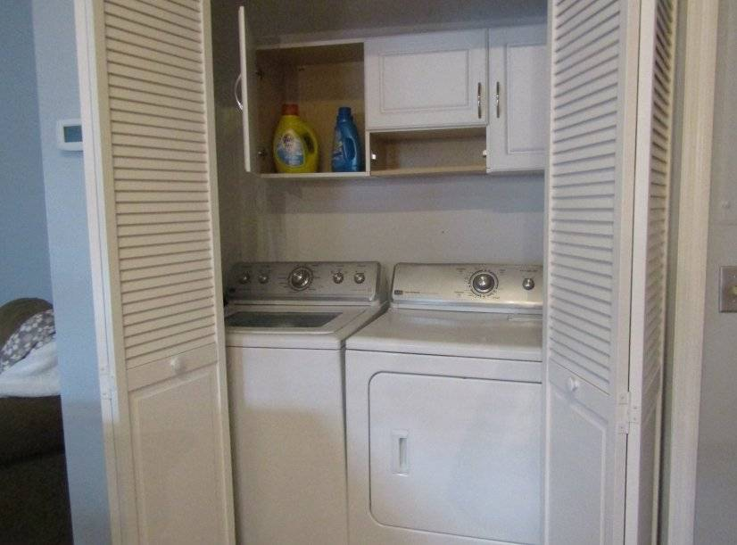 Washer and dryer included.
