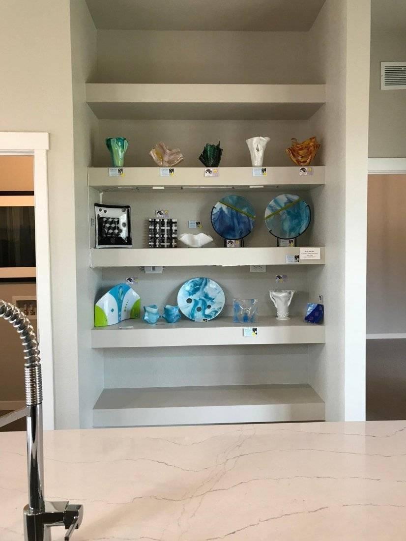 Pantry -Storage shelves in kitchen