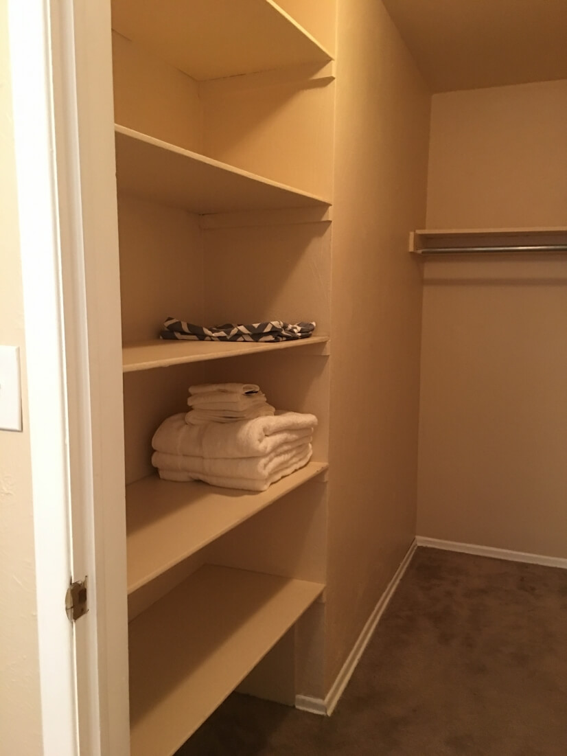 12' long walk in closet
