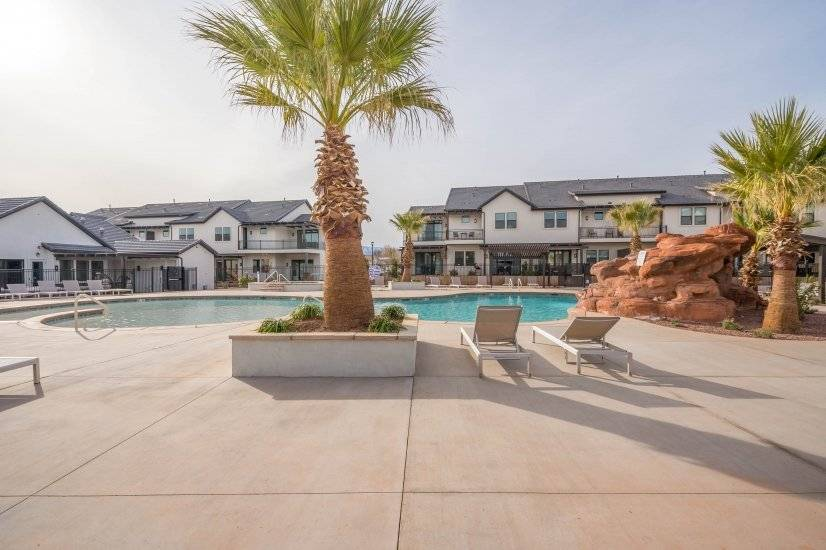 Pool access with water slide and clubhouse