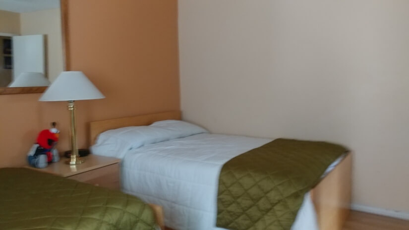 Peach Room Two Beds