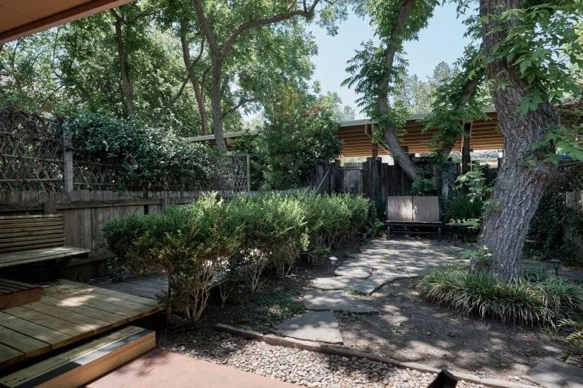 Small, private backyard