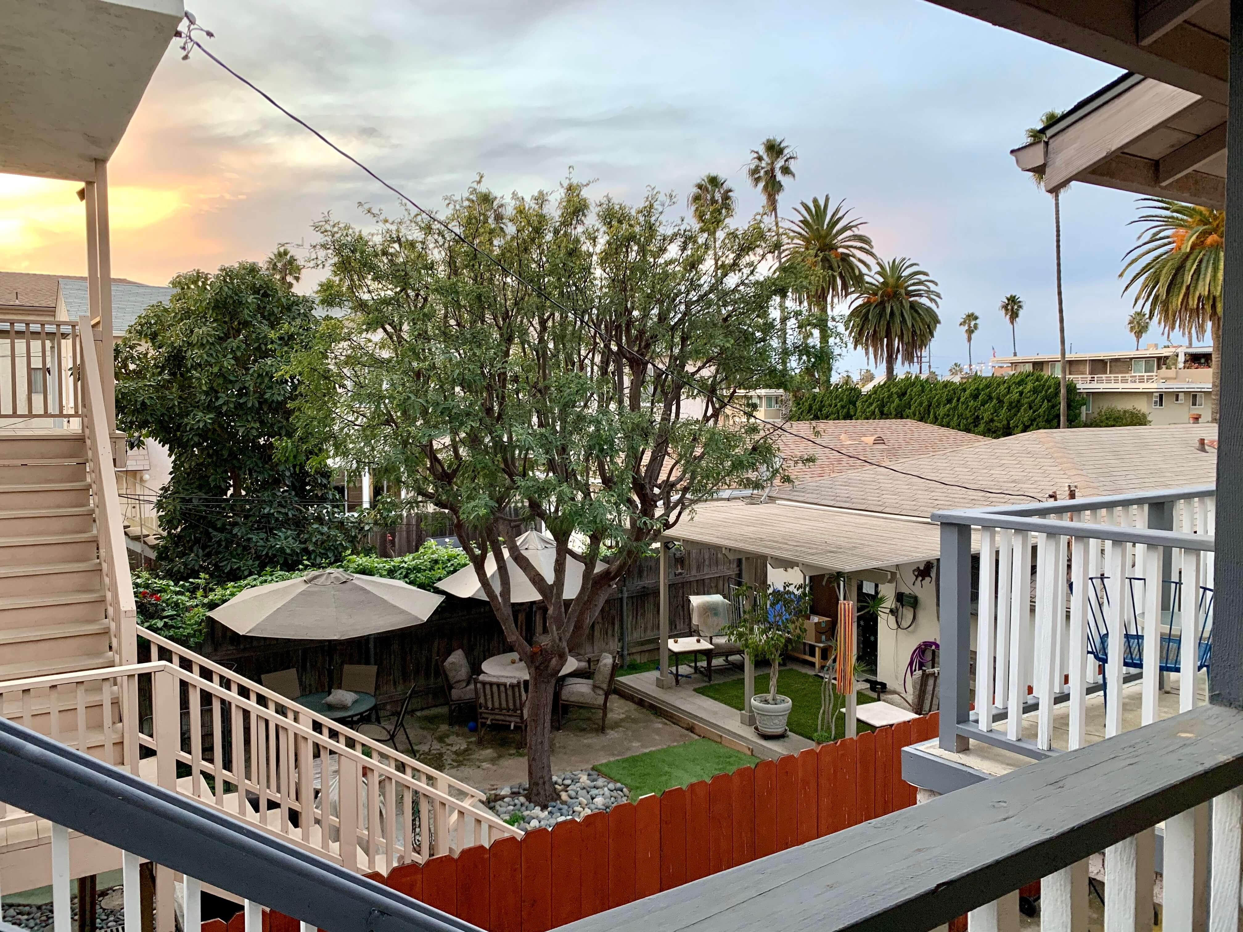 San Diego beautiful view from balcony
