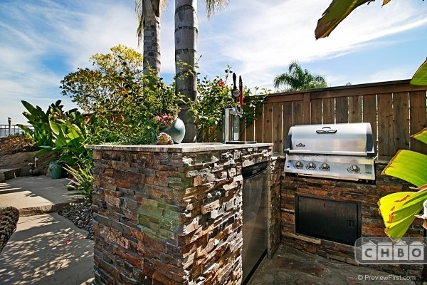 Barbeque and outdoor refrigerator
