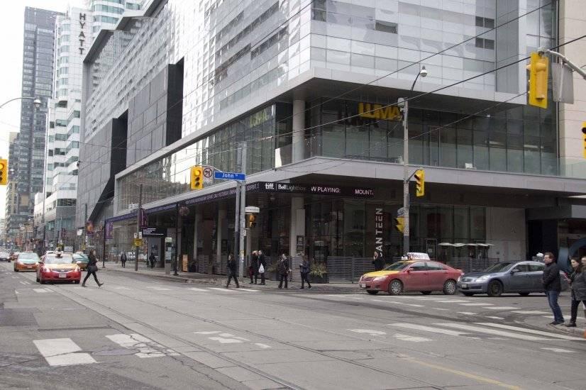 TIFF building 2 blocks north of the apartment