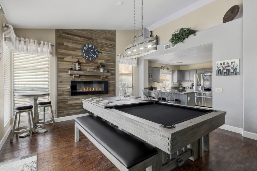 Dining ; Pool table