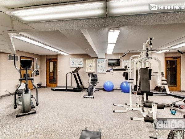 exercise room with modern equipment