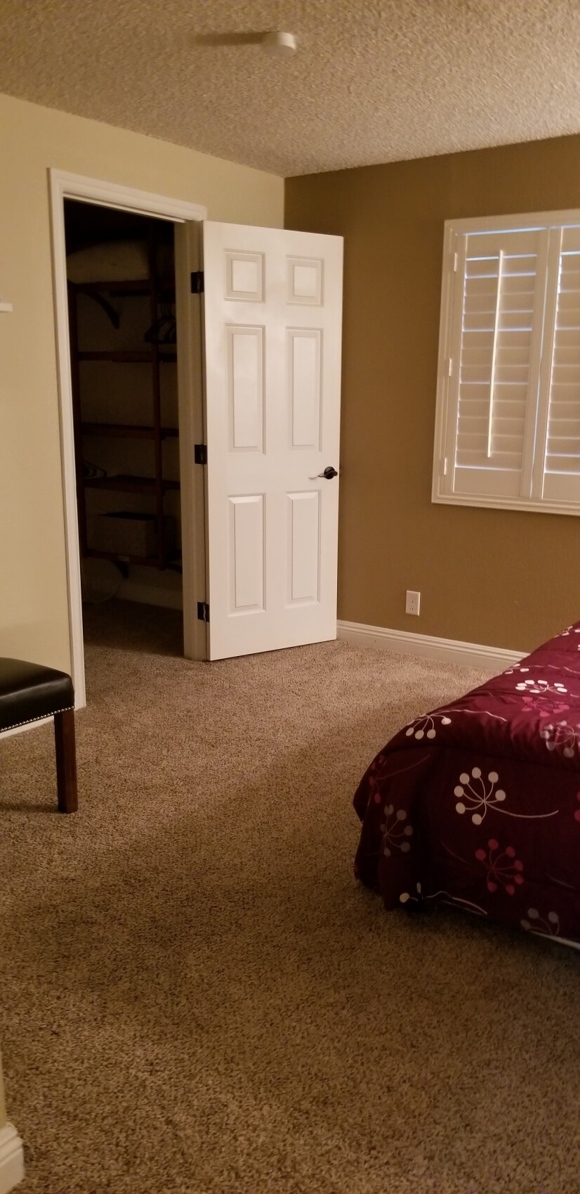 Bedroom 4 with large walk-in closet