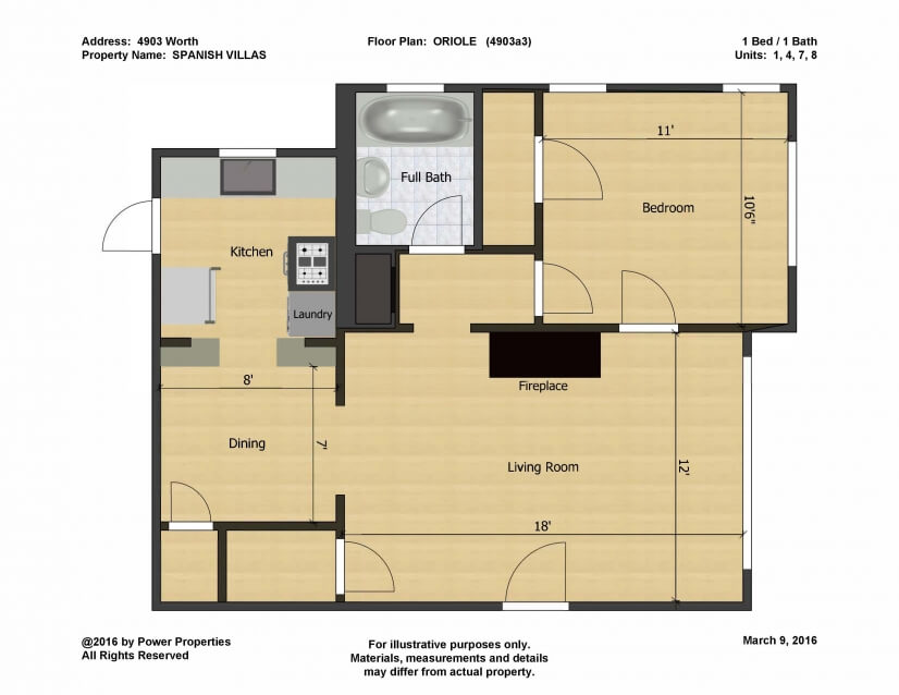 Oriole Floor Plan