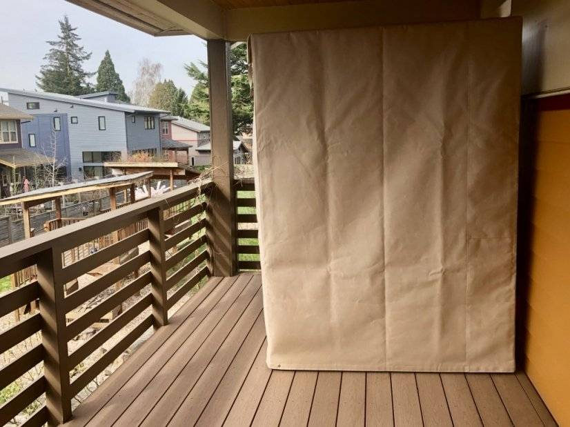 master bedroom balcony with 4-person infrared sauna